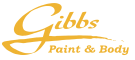 Gibbs Paint and Body Logo in Gold